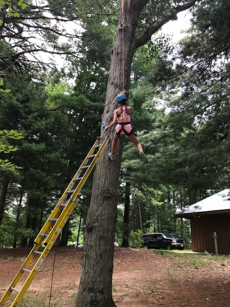 Trying the high ropes