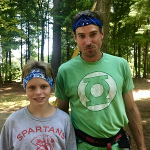 Brad with camper at Next Level Adventures summer camp